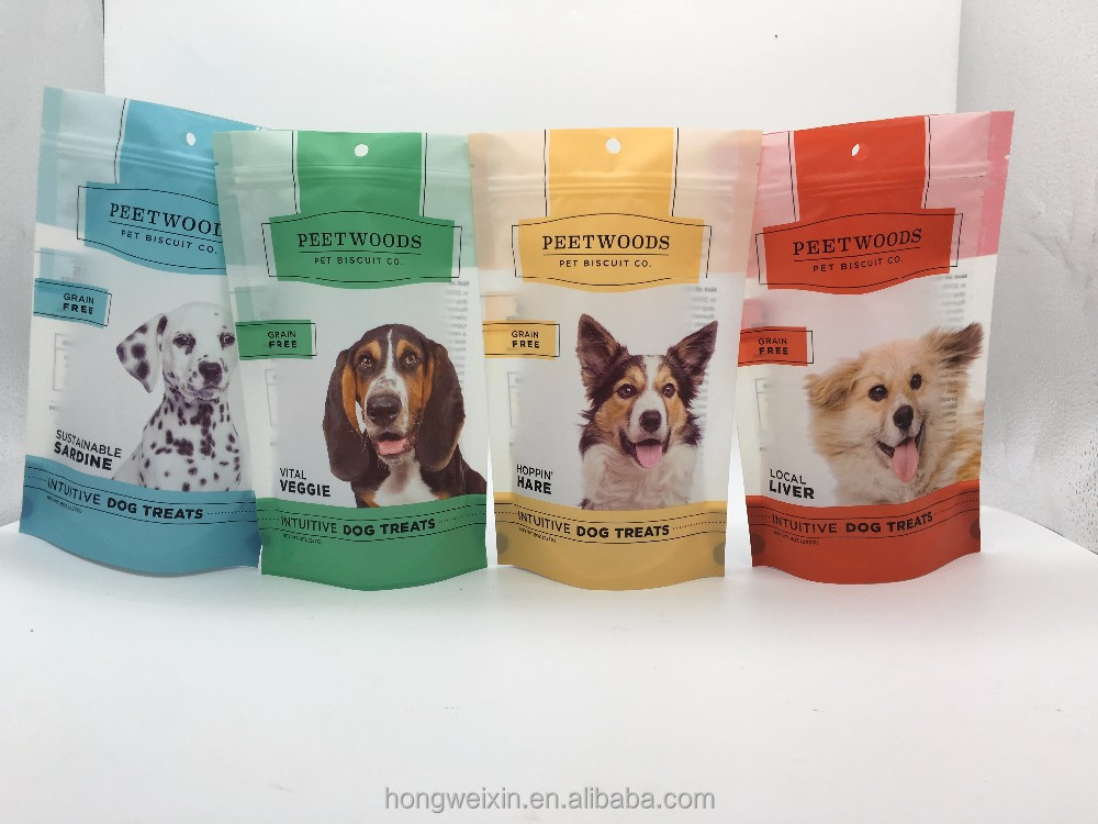 New pattern zipper top dog food bag,stand up pouch packaging for pet food