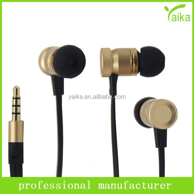 alibaba new products China manufacturer flat colorful wired stereo <strong>metal</strong> in ear earphone for Samsung Iphone mobile