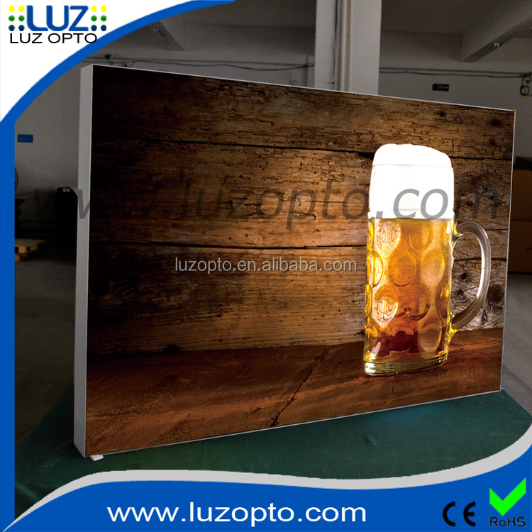 80mm depth double side fabric lightboxes,tension fabric lightbox, LED aluminum frameless lightbox