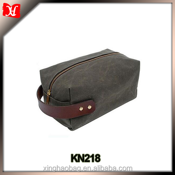waxed canvas toilet bag mens toiletry travel bag