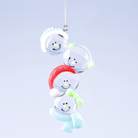 new style christmas decoration snowman heads ornament