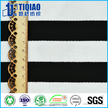 100% cotton feeder striped terry fabric