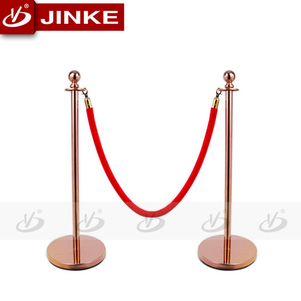Red carpet Rope Stanchion Construction Barriers System For Safety Control