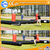 Outdoor amusing cheap Triple panna inflatable soccer fields PVC kids inflatable football field
