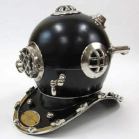 Nautical Silver and Black Finish Steel Metal Mark V Marine 18 inch Decorative Diver Helmet, Item number Sai-1625