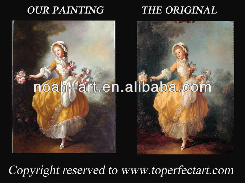 Hot-selling romantic oil painting on linen canvas