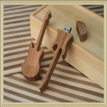 bamboo wooden guitar usb flash drive gadget 16gb