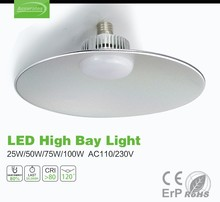Commercial led lighting IP44 E27/E40/hang ring 25W warehouse ufo dimmable industrial led high bay light,made in china