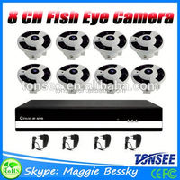 Fish Eye CCTV Camera 8 channel NVR Kit,Cctv Nvr Ip Camera System Made In China,H.264 Diy Dvr Kit