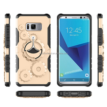 Luxury Arm Holder Phone Shockproof Hybrid Armor Case Cover with Sports Jogging Running Armband for Samsung Galaxy S8 Plus Edge