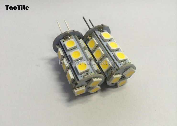Guangzhou Auto part G4 Led 18SMD 5050 Led Light Home lamp Marine Boat Led Lamps Interior light