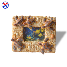 Wholesale polyresin mini 3D photo frame resin square picture frame for home decoration
