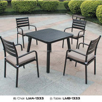 Patio Garden Dining Poly Rattan Stackable