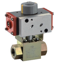 KHB series 6~8bar control pressure 2 way high pressure pneumatic actuator ball valve