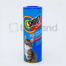 eco friendly containers cat food packaging paper tube with shaker top