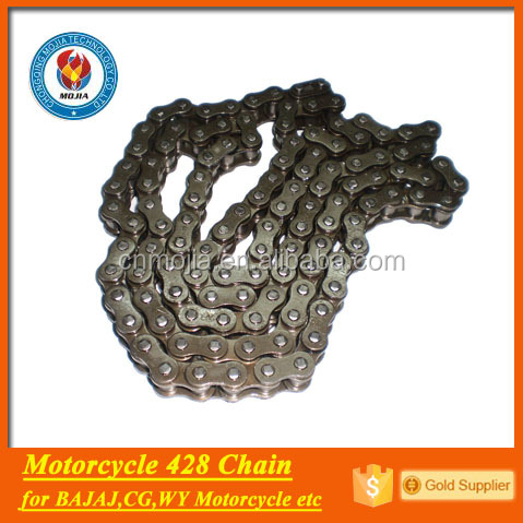 factory wholesale spare parts 428 bulk motorcycle chains supplier