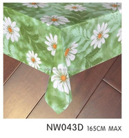 3 layers coating plastic table cover with backing