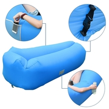 In Stock New Shape Outdoor Inflatable Sofa Air Lounger with Headrest