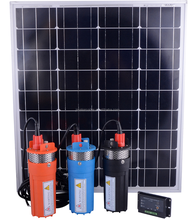 12V DC SOLAR POWERED SUBMERSIBLE WATER PUMP SYSTEM FOR DEEP WELLS