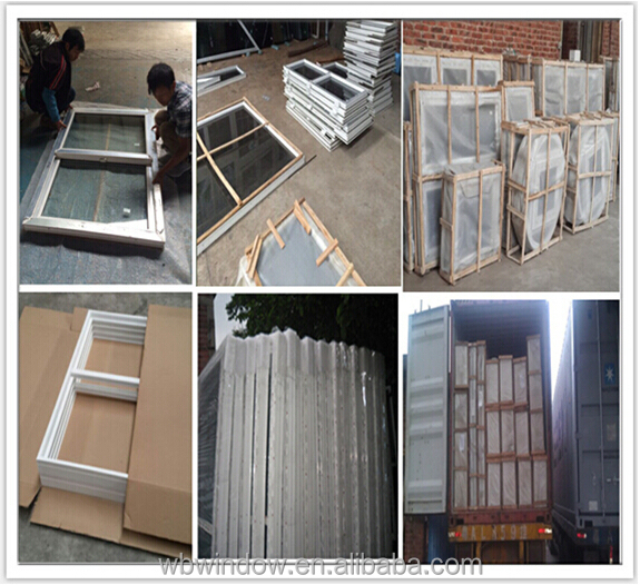 Ghana hot sale PVC//Upvc Plastic materior sliding window with glass