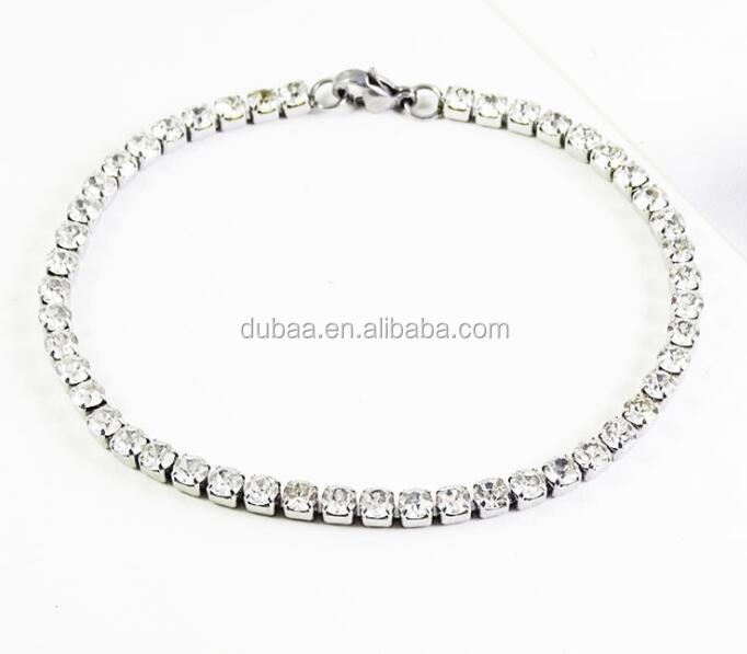 Stainless Steel Tennis Rhinestone with Metal Cup Chain Bracelet Rhinestone Trim Crystal Cup Chain Fringe Trimming Chain Jewelry