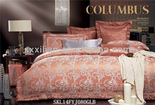 linen fabric luxury polyester ramie interwoven bedding set /bed sheet/duvet cover/pillow
