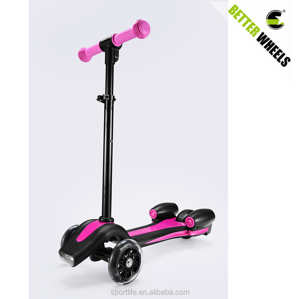 Kids scooter 3 wheels for sale, pink blue cheap child kick scooter