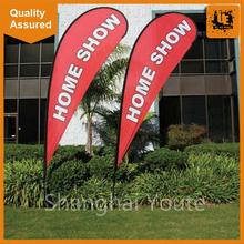 Cheap double sided feather flag with logo feather flags beach teardrop flag for exhibition and promotion