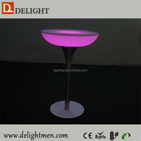 Color change illuminated table/ led pool table light/ led modern ice cooler table