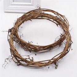 Country Christmas decoration twig wreath dried rattan vine wreath ring for DIY handmade door hanging flower wreath