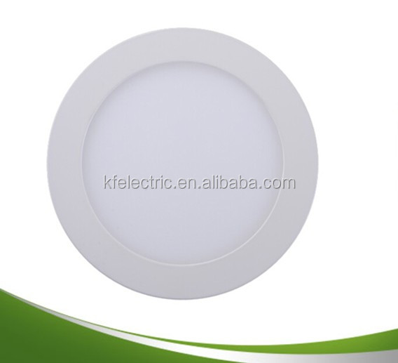 alibaba express 5w 7w 9w 12w 15w 18w round panle ip54 flat ceiling led solar panel for indoors