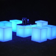 Yi gui 40*40*40CM led lighting cube / led bar furniture cube stool