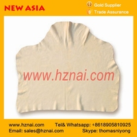 yellow Area Cut genuine Chamois leather china factory