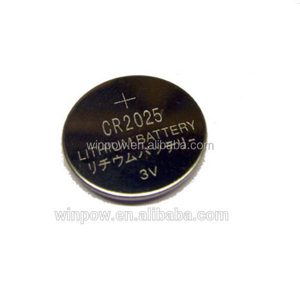 Remote control cr2025 lithium battery , 3V 150mAh Coin Battery Cell with good quality ( CR2025 )