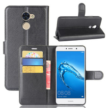 Litchi PU Card Holder Wallet Flip Leather Case For Huawei Y7 Prime /Holly 4 Plus /Enjoy 7 Plus