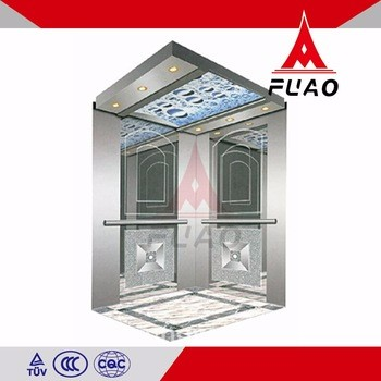 Multifunctional commercial stainless steel passenger elevator