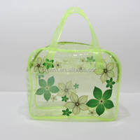 printed plastic cosmetic bag
