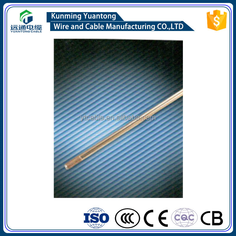Steel(copper coated/boned)& hot-dip galvanized earthing rod China suipplier