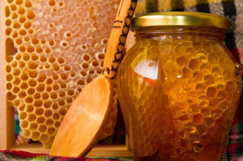 Honey COMB %100 Natural Bee Honey Flower