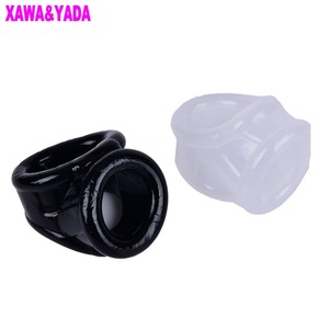 Male Chastity Device Scrotum Rings Penis Sleeve Cockrings Time Delay Cock Cage adult Toys For Men Ball Stretcher Cock Ring