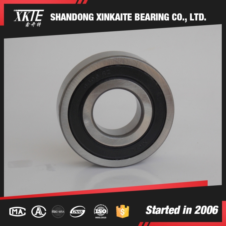 shandong china made 6306-2RS rubber seals deep groove ball bearing used as conveyor roller bearing