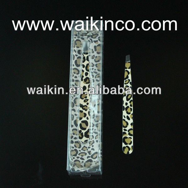 Animal Print Tweezer Lady Eyebrow Slant Tweezer Leopard Pattern