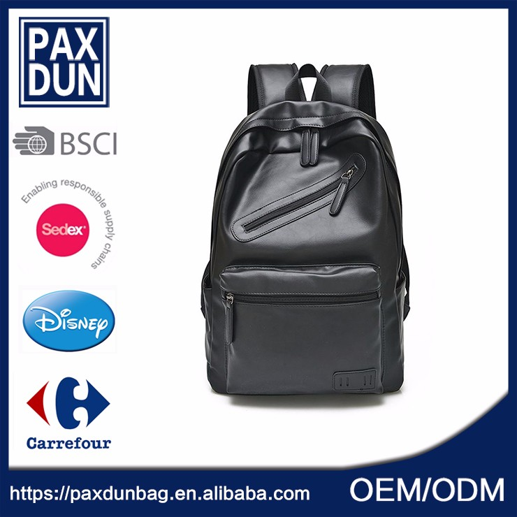 China cheap leather man back pack bag , leather laptop backpack