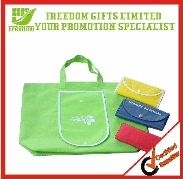 Customized Promotional Cheap Polyester Folding Shopping Bag