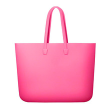 Fashionable Summer Silicone Beach Bag Jelly Waterproof Tote Bag With Handle