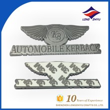 Nickel plated zinc alloy nameplate metal car emblem for promotion