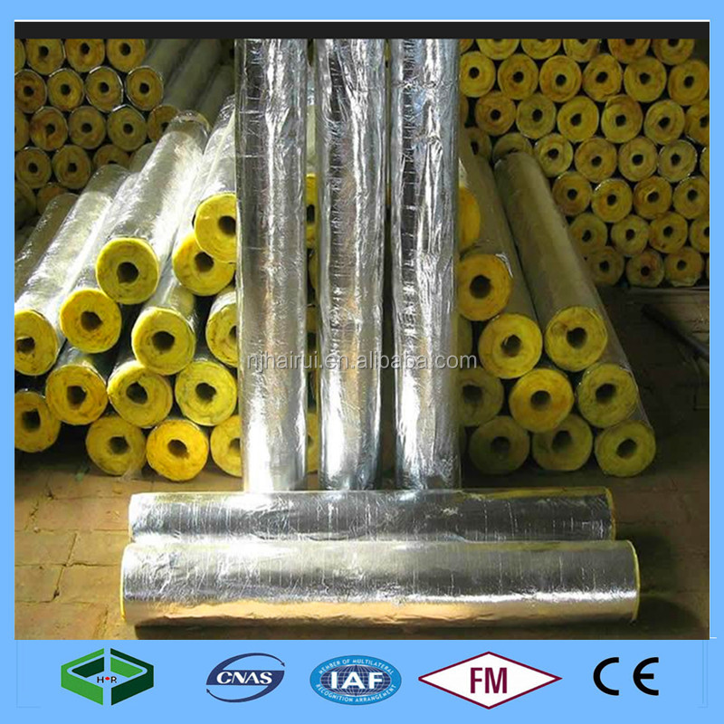 Waterproof Thermal Insulation Aluminium Faced Glasswool Pipe Insulation