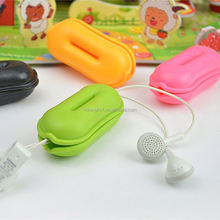 Mobile Phone Accessories TPR Peanut Colorful earphone cable case plastic duck bill wall cable clip