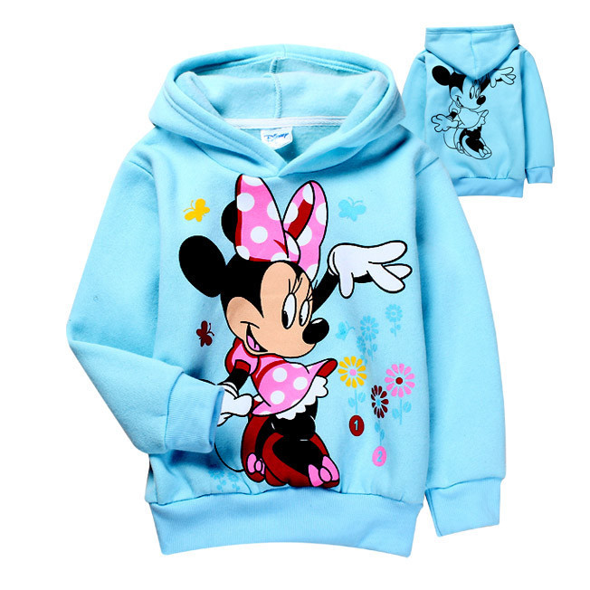 Sale 2015 Autumn baby girls Minnie Fleece hoodies,Children outerwear,Kids Cartoon Clothes/Sweatshirt/Winter Coat retail