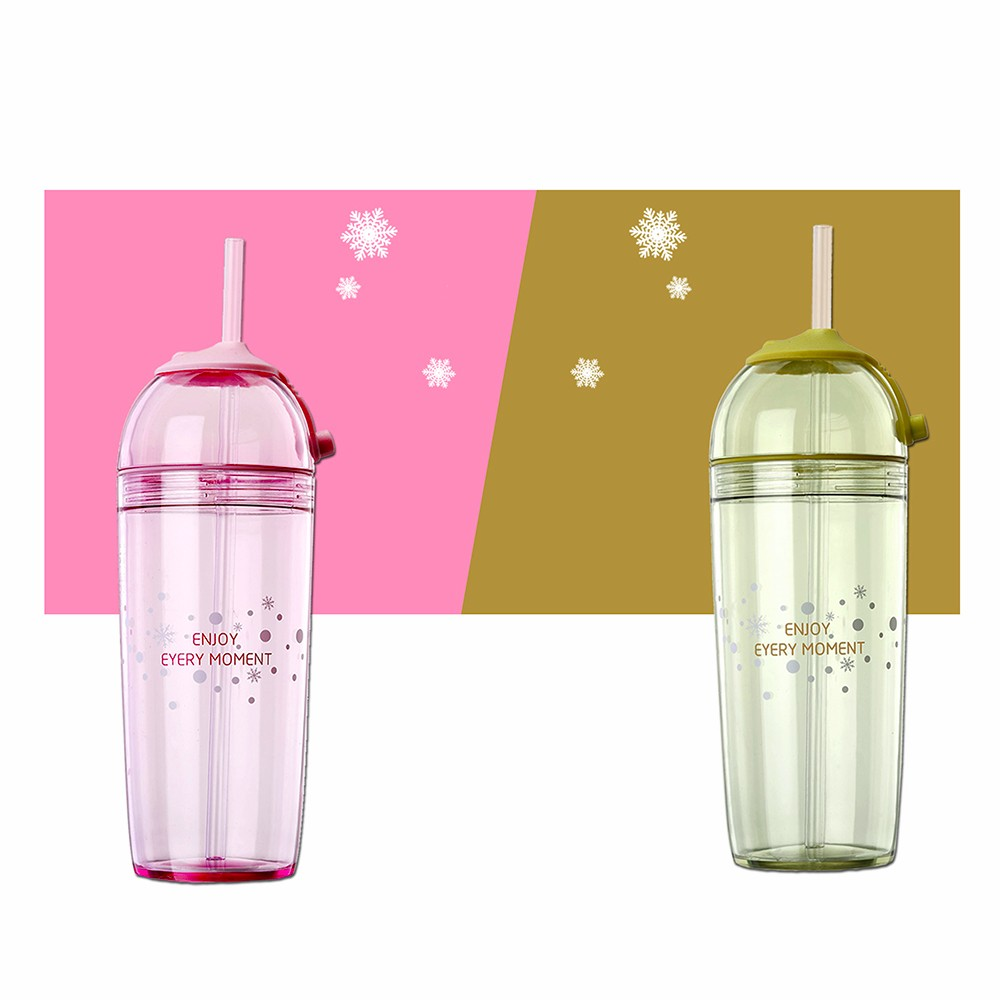 High grade transparent reusable drinking bottle for watermelon juice